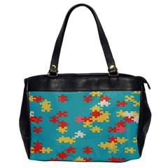 Puzzle Pieces Oversize Office Handbag (one Side)
