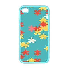 Puzzle Pieces Apple Iphone 4 Case (color)