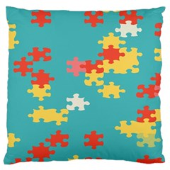 Puzzle Pieces Large Cushion Case (two Sided)