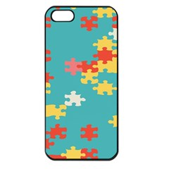 Puzzle Pieces Apple Iphone 5 Seamless Case (black)