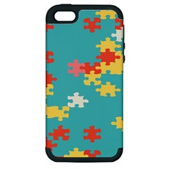 Puzzle Pieces Apple Iphone 5 Hardshell Case (pc+silicone)