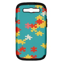 Puzzle Pieces Samsung Galaxy S Iii Hardshell Case (pc+silicone) by LalyLauraFLM