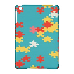 Puzzle Pieces Apple Ipad Mini Hardshell Case (compatible With Smart Cover) by LalyLauraFLM