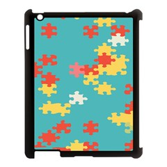 Puzzle Pieces Apple Ipad 3/4 Case (black) by LalyLauraFLM