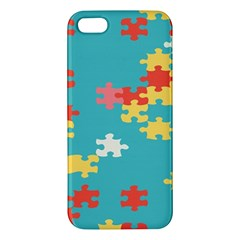 Puzzle Pieces Apple Iphone 5 Premium Hardshell Case by LalyLauraFLM
