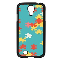 Puzzle Pieces Samsung Galaxy S4 I9500/ I9505 Case (black) by LalyLauraFLM