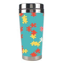 Puzzle Pieces Stainless Steel Travel Tumbler by LalyLauraFLM