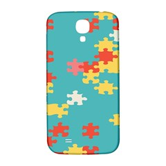 Puzzle Pieces Samsung Galaxy S4 I9500/i9505  Hardshell Back Case by LalyLauraFLM