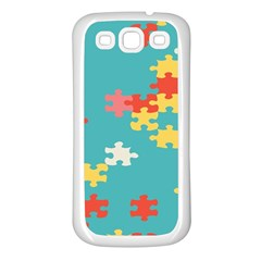 Puzzle Pieces Samsung Galaxy S3 Back Case (white)