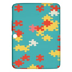 Puzzle Pieces Samsung Galaxy Tab 3 (10 1 ) P5200 Hardshell Case  by LalyLauraFLM