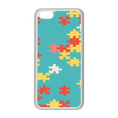 Puzzle Pieces Apple Iphone 5c Seamless Case (white)