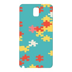 Puzzle Pieces Samsung Galaxy Note 3 N9005 Hardshell Back Case by LalyLauraFLM