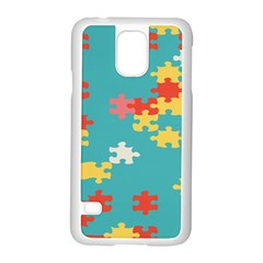 Puzzle Pieces Samsung Galaxy S5 Case (white) by LalyLauraFLM