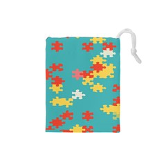 Puzzle Pieces Drawstring Pouch (small)
