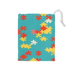 Puzzle Pieces Drawstring Pouch (medium)