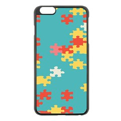 Puzzle Pieces Apple Iphone 6 Plus Black Enamel Case by LalyLauraFLM