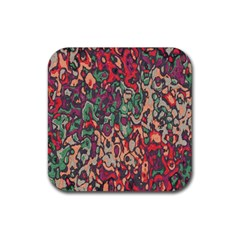 Color Mix Rubber Square Coaster (4 Pack)