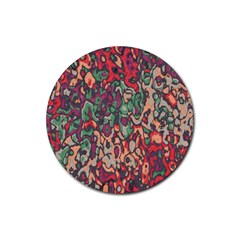 Color Mix Rubber Coaster (round)