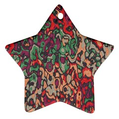 Color Mix Star Ornament (two Sides)