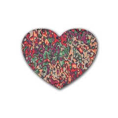 Color Mix Rubber Coaster (heart)