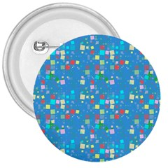 Colorful Squares Pattern 3  Button by LalyLauraFLM
