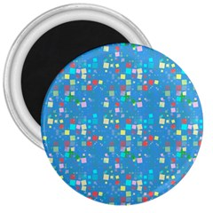 Colorful Squares Pattern 3  Magnet by LalyLauraFLM