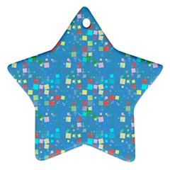 Colorful Squares Pattern Ornament (star)