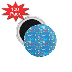 Colorful Squares Pattern 1 75  Magnet (100 Pack)