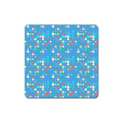 Colorful Squares Pattern Magnet (square)