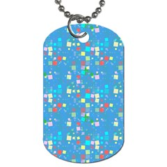 Colorful Squares Pattern Dog Tag (one Side)