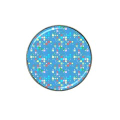 Colorful Squares Pattern Hat Clip Ball Marker by LalyLauraFLM