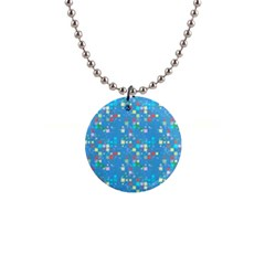 Colorful Squares Pattern 1  Button Necklace