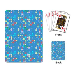 Colorful Squares Pattern Playing Cards Single Design