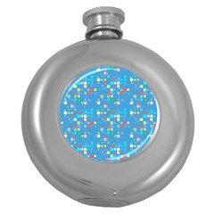 Colorful Squares Pattern Hip Flask (5 Oz) by LalyLauraFLM