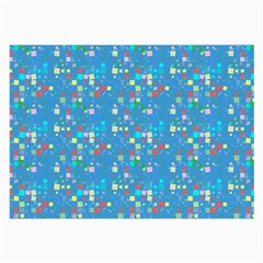 Colorful Squares Pattern Glasses Cloth (large) by LalyLauraFLM
