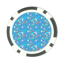 Colorful Squares Pattern Poker Chip Card Guard