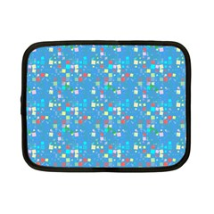 Colorful Squares Pattern Netbook Case (small)