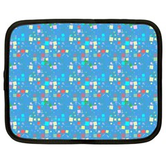 Colorful Squares Pattern Netbook Case (large)	 by LalyLauraFLM