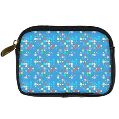 Colorful Squares Pattern Digital Camera Leather Case