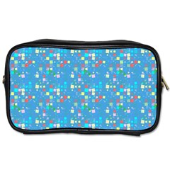 Colorful Squares Pattern Toiletries Bag (two Sides)