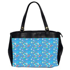 Colorful Squares Pattern Oversize Office Handbag (two Sides)
