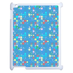 Colorful Squares Pattern Apple Ipad 2 Case (white)