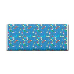 Colorful Squares Pattern Hand Towel