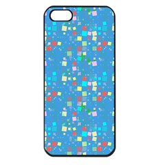 Colorful Squares Pattern Apple Iphone 5 Seamless Case (black)