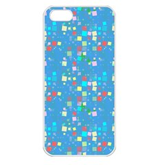 Colorful Squares Pattern Apple Iphone 5 Seamless Case (white)