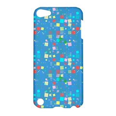 Colorful Squares Pattern Apple Ipod Touch 5 Hardshell Case by LalyLauraFLM