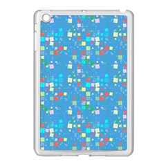 Colorful Squares Pattern Apple Ipad Mini Case (white) by LalyLauraFLM
