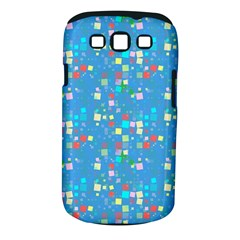 Colorful Squares Pattern Samsung Galaxy S Iii Classic Hardshell Case (pc+silicone)