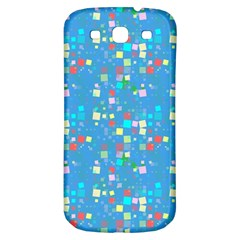 Colorful Squares Pattern Samsung Galaxy S3 S Iii Classic Hardshell Back Case