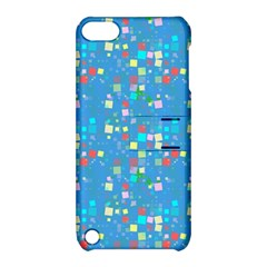 Colorful Squares Pattern Apple Ipod Touch 5 Hardshell Case With Stand by LalyLauraFLM